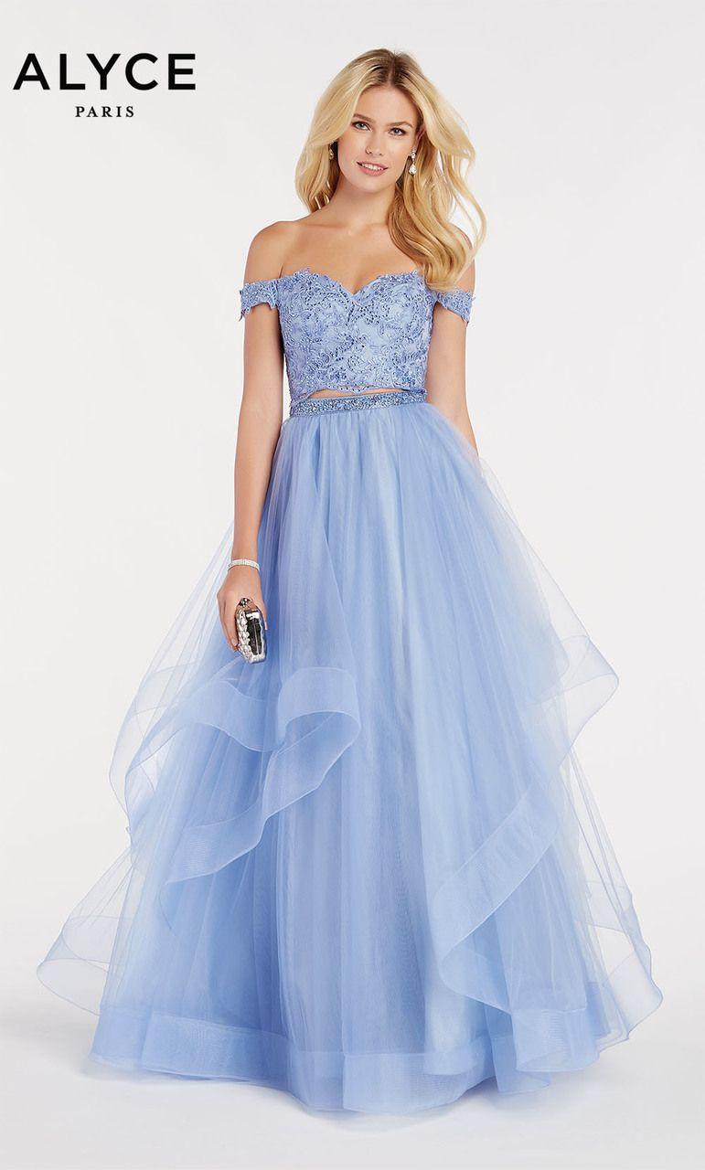 d4b49077633 Alyce Paris Style 60373  BlueIris Size 12 Prom Two Piece