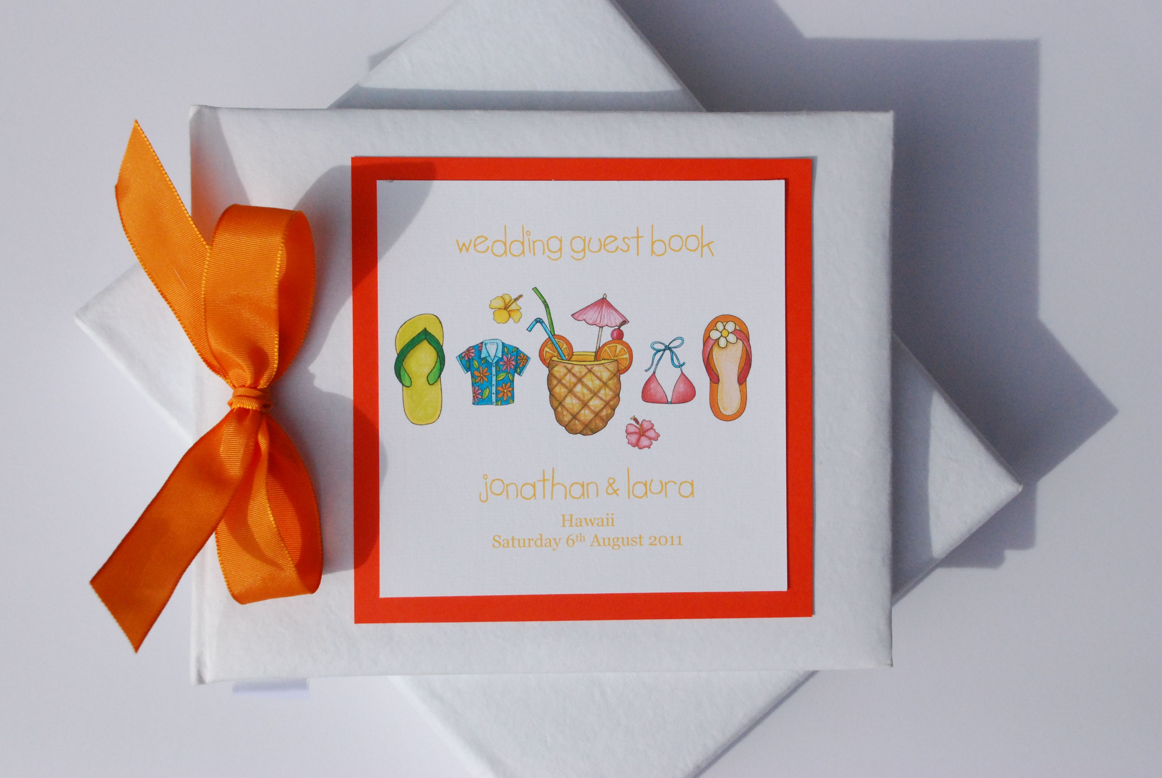 Tropical Themed Wedding Guest Book £25.00 www.beadazzledesigns.co.uk ...