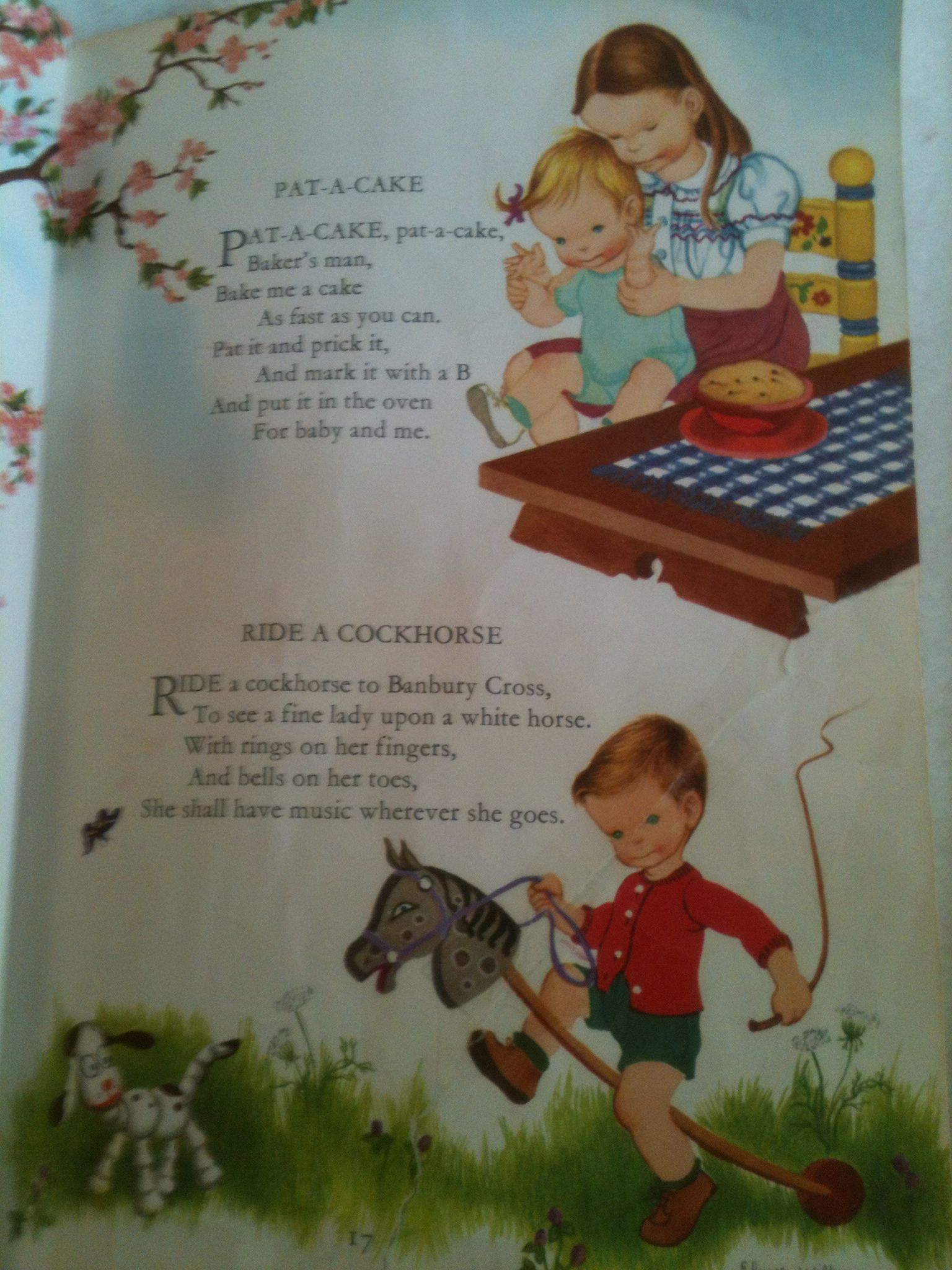 Page 17 Childcraft Encyclopedia 1961 Edition Pat A Cake Ride A