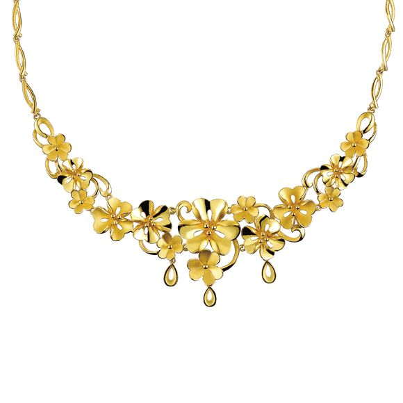 gold flower necklace lukfook