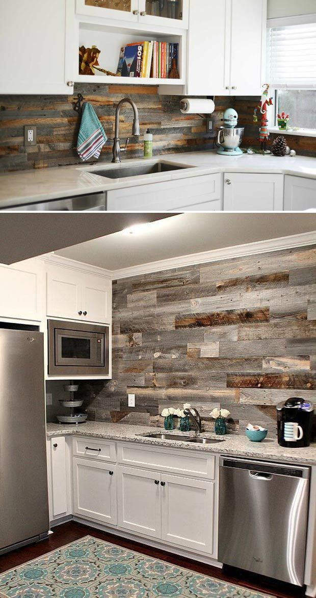 His Her Home Reclaimed Wood Feature Wall Barnwood Reclaimedwood Bar Backsplash Featurewall Woodfeaturewall Bars For Home Basement Bar Home Bar Designs