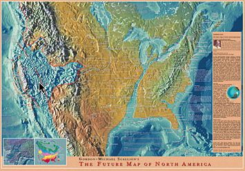 New Madrid earthquake   Prophetic Future Map of USA after New Madrid ...