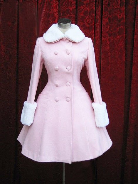 f0bff88b539a Pink Sweet Lolita Coat with Fur Collars Removable Cape  85.99 ...