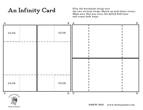 The Infinity Card A Template Infinity Card Card Making Templates Fun Fold Cards