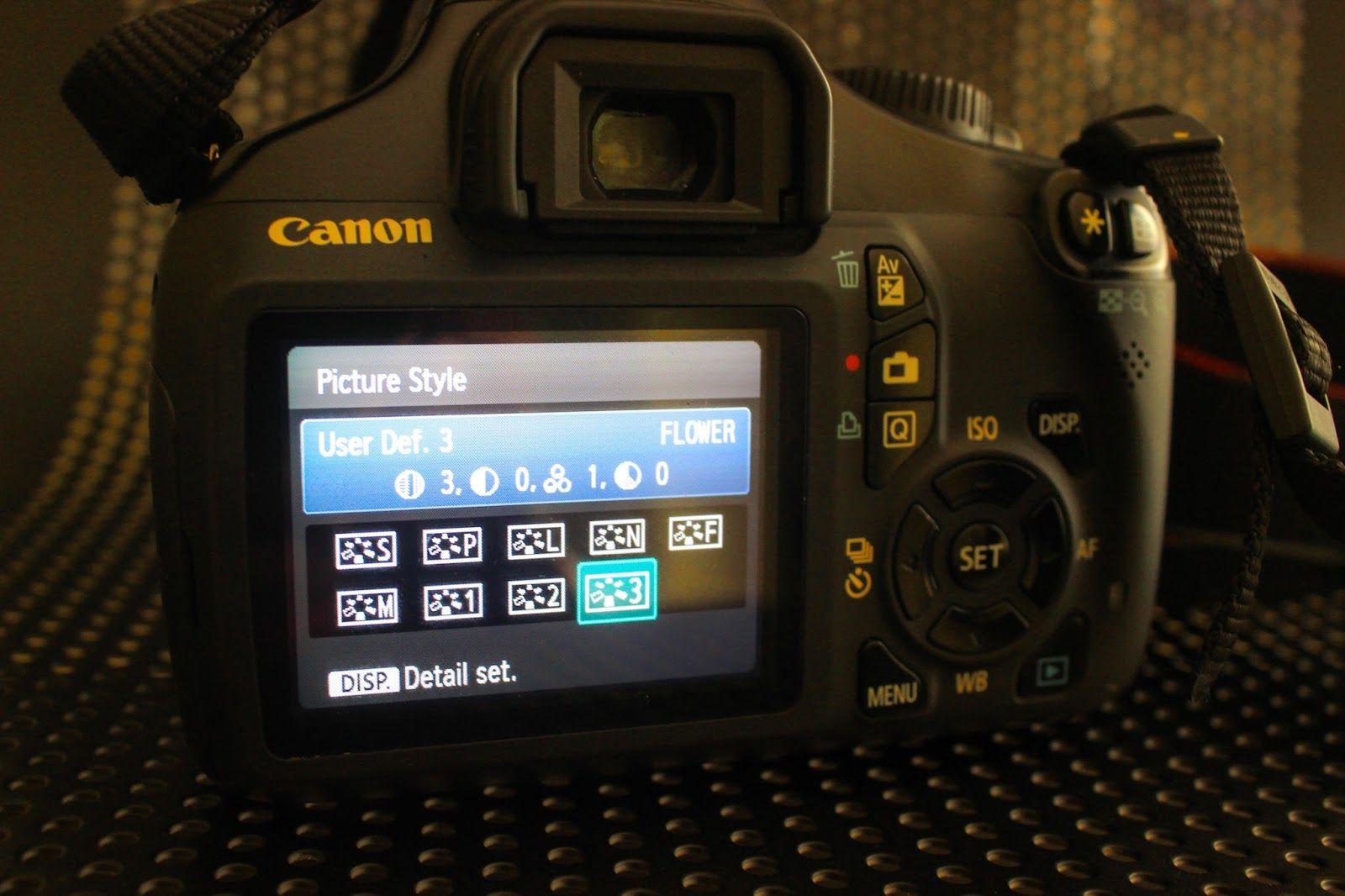 Cara Mengisi Picture Style Pada Kamera Dslr Canon Kamera Dslr Kamera