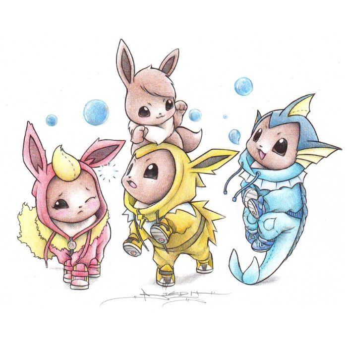 Itsbirdy Eevee Flareon Jolteon Amp Vaporeon Pokemon