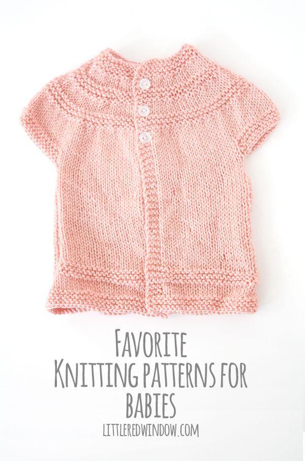 My Favorite Sweater Knitting Patterns for Babies | Tejidos en dos ...