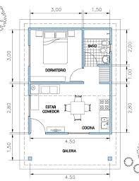 Resultado de imagen para plano de casa de 40m2 ideas for Diseno de apartamentos de 50 metros cuadrados