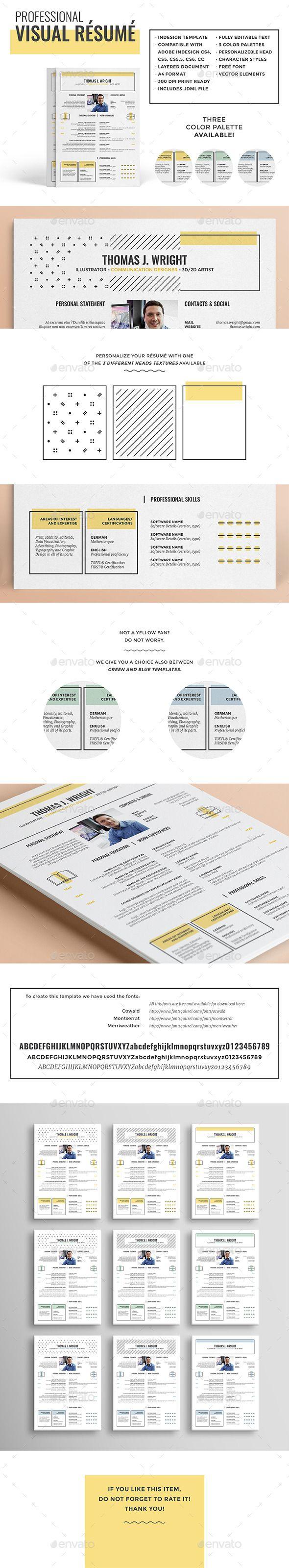 visual résumécv  teacher resume template simple resume