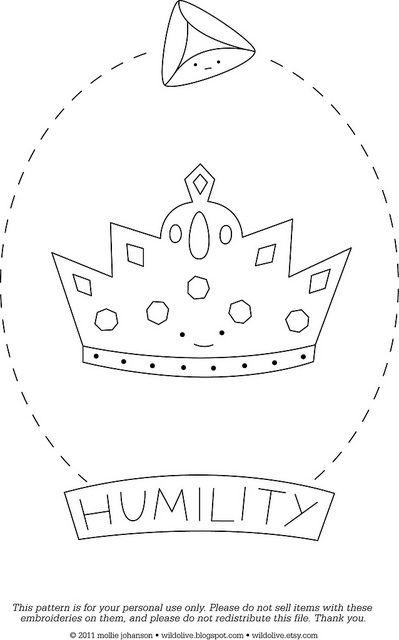 Humility - a free pattern | Bordado, Ejerció y Habilidades