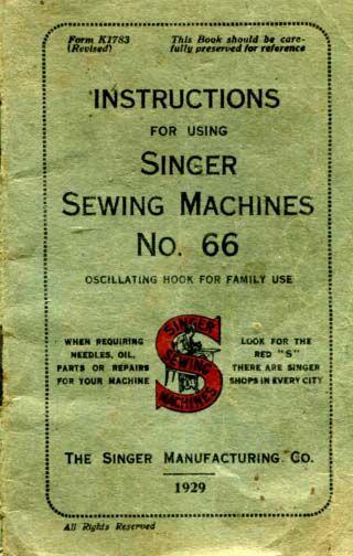 Singer Model 40 Sewing Machine Manual Sewing Machines Pinterest Unique Antique Singer Sewing Machine Manual