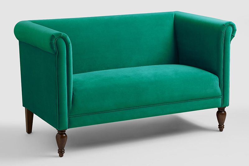 15 Gorgeous Green Sofas For When You Re Ready To Move On From Navy Love Seat Furniture Green Sofa