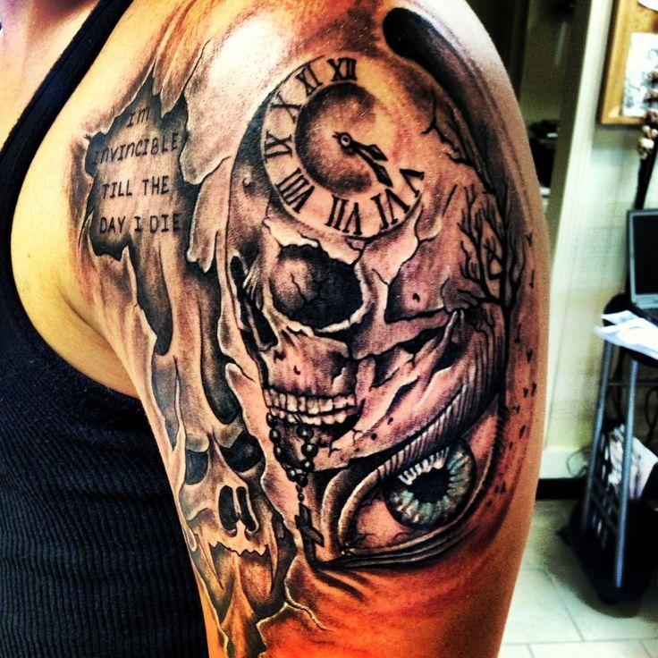 6e3c9a1c7 Tattoos Tatt Ideas Clock Tattoos Good And Evil Tattoo Tattoos | My ...