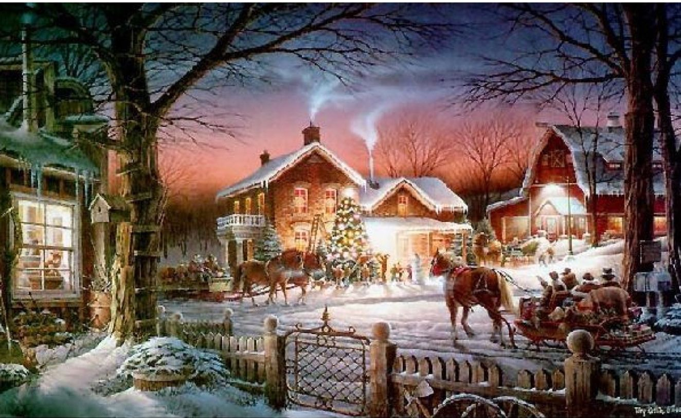 Old Fashioned Christmas | Winterscape Horses | Pinterest | Vintage ...