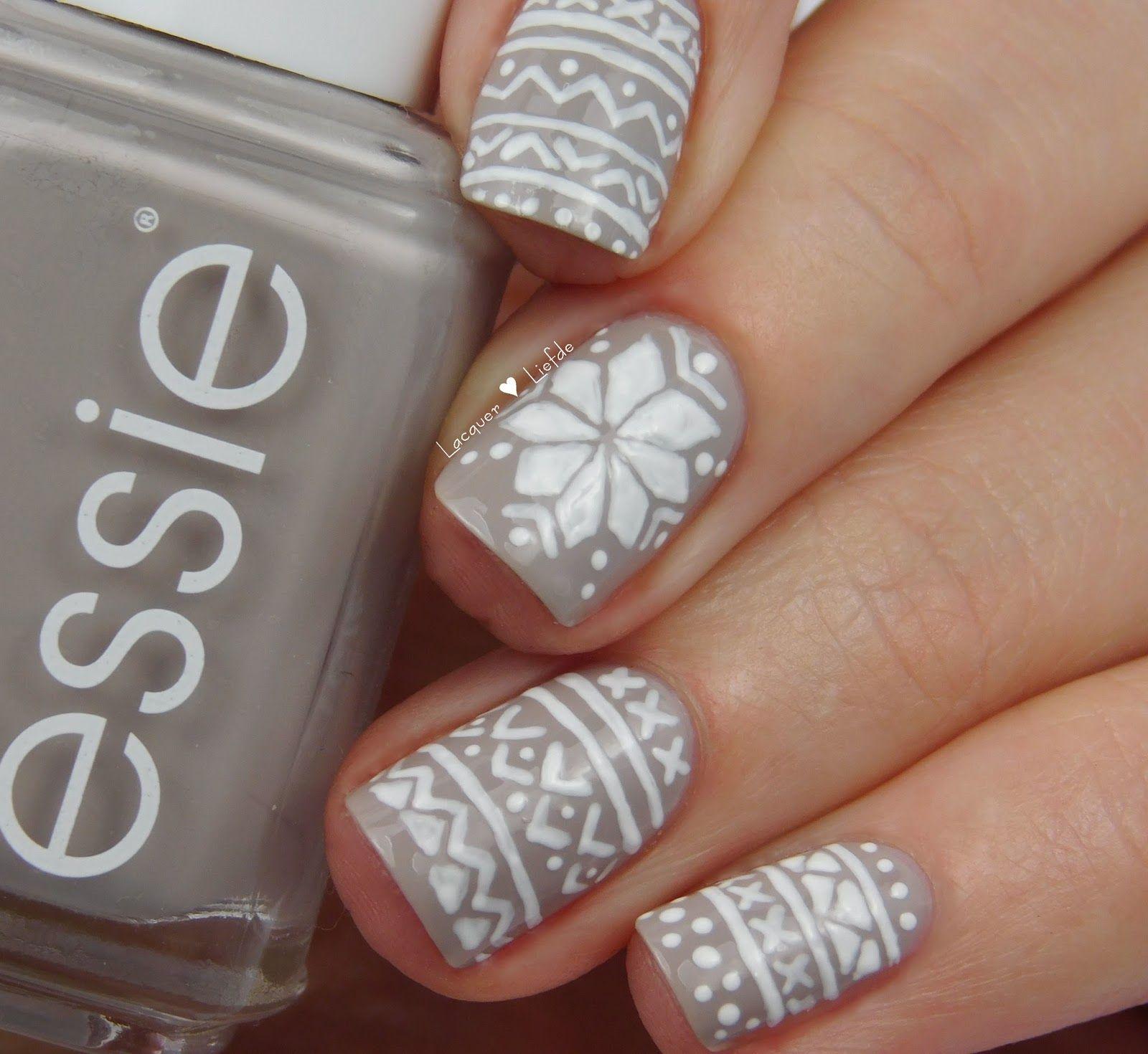Norwegian Nails #inspired #onesie #jumper #nails #nailart #essie ...