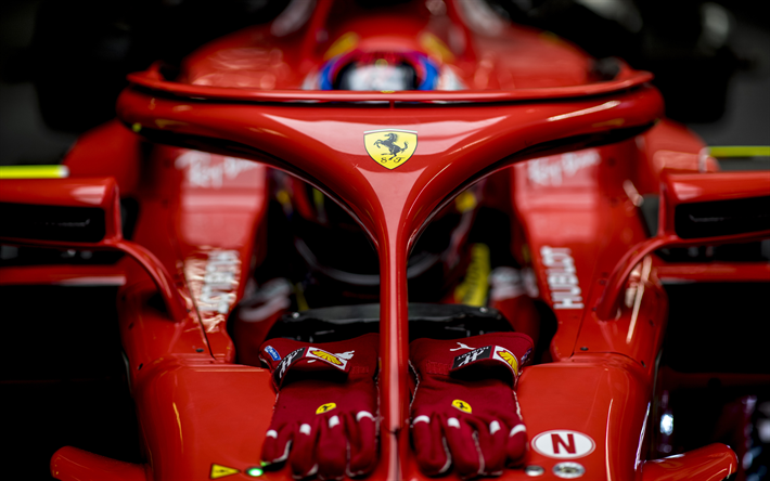 Download Wallpapers Halo Ferrari Sf71h 4k New Cockpit Protection Formula One F1 Formula 1 2018 Formula 1 Scuderia Ferrari 2018 Cars Sf71h Besthqwallpa Formula 1 Car Ferrari F1 Ferrari