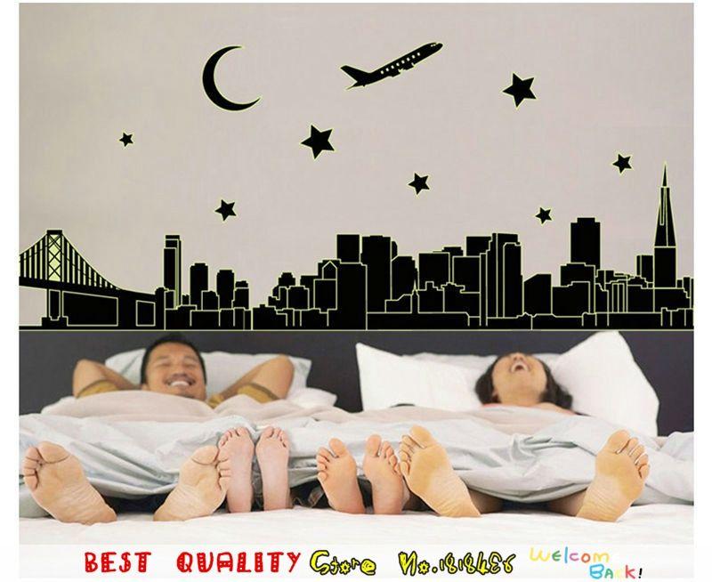 hasil gambar untuk gambar gedung di dinding kamar on wall stickers stiker kamar tidur remaja id=90209
