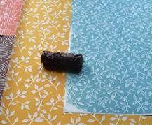 Naturfarben Auf Vlies Musterwalzen Pattern Rollers