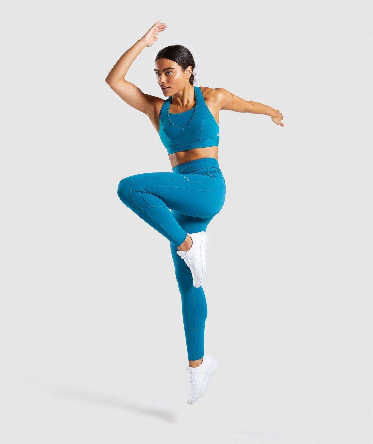 48b3ea154e9cb1 Gymshark Pace Running Leggings - Deep Teal in 2019 | Gym Threads ...