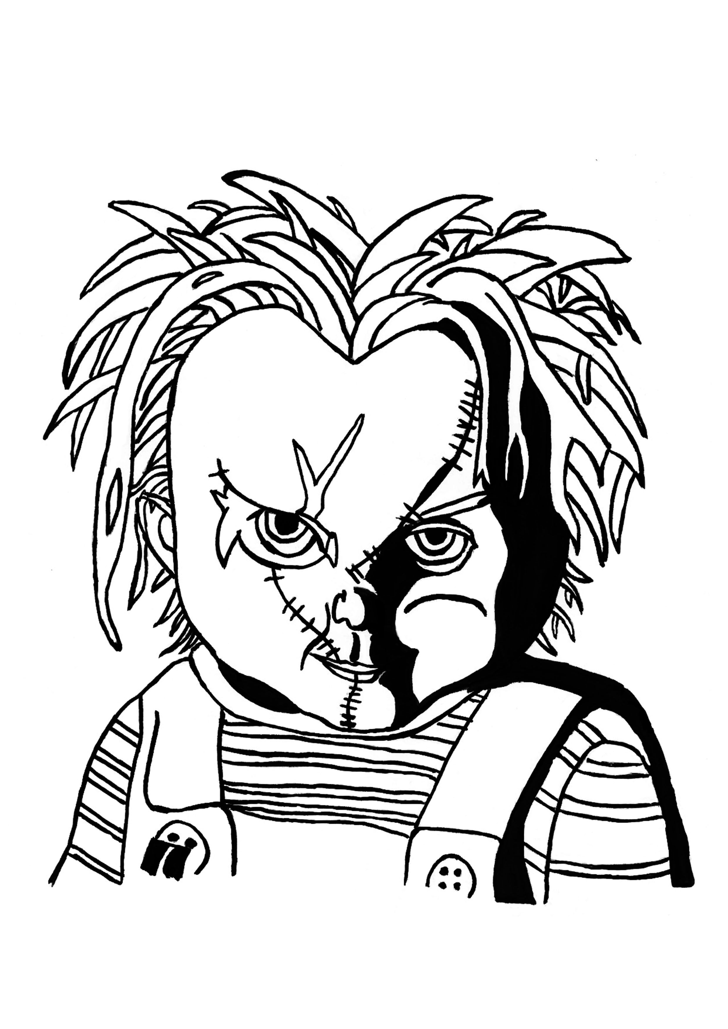 Chucky Coloring Pages : chucky, coloring, pages, Halloween, Print, Coloring, Pages, Pages,, Kids,