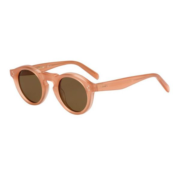Celine CL 41370/S Bevel Round N8O/X7 Sunglasses ($245) ❤ liked