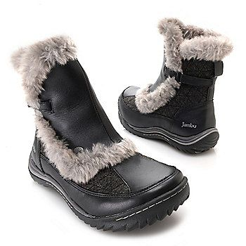 "Jambu ""Eskimo"" Water-Resistant Leather & Wool Faux Fur Lined Ankle Boots"