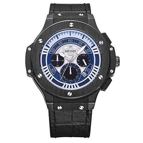 Lancardo 30M Water Resistant Mens Japanese Wrist Watch Luminous Hand Week Calendar Extra Nylon Band -- See this great product.