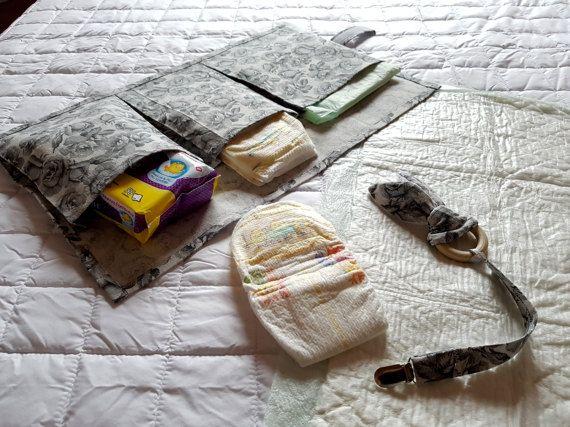 Porta-pannolini in tessuto giochino orecchie di di oensahandmade