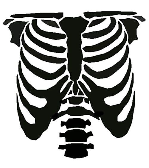 This is a photo of Skeleton Costume Template Printable regarding halloween masks