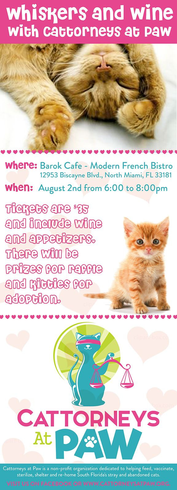 Join us for Whiskers & Wine with Cattorneys at Paw Tickets
