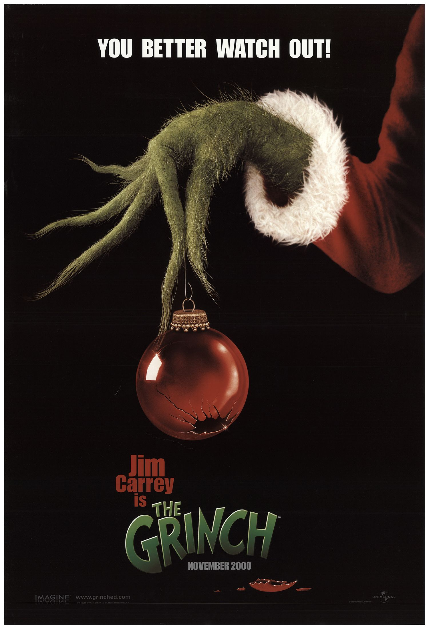 How The Grinch Stole Christmas 2020 Impawards How the Grinch Stole Christmas 2000 Original Movie Poster #FFF