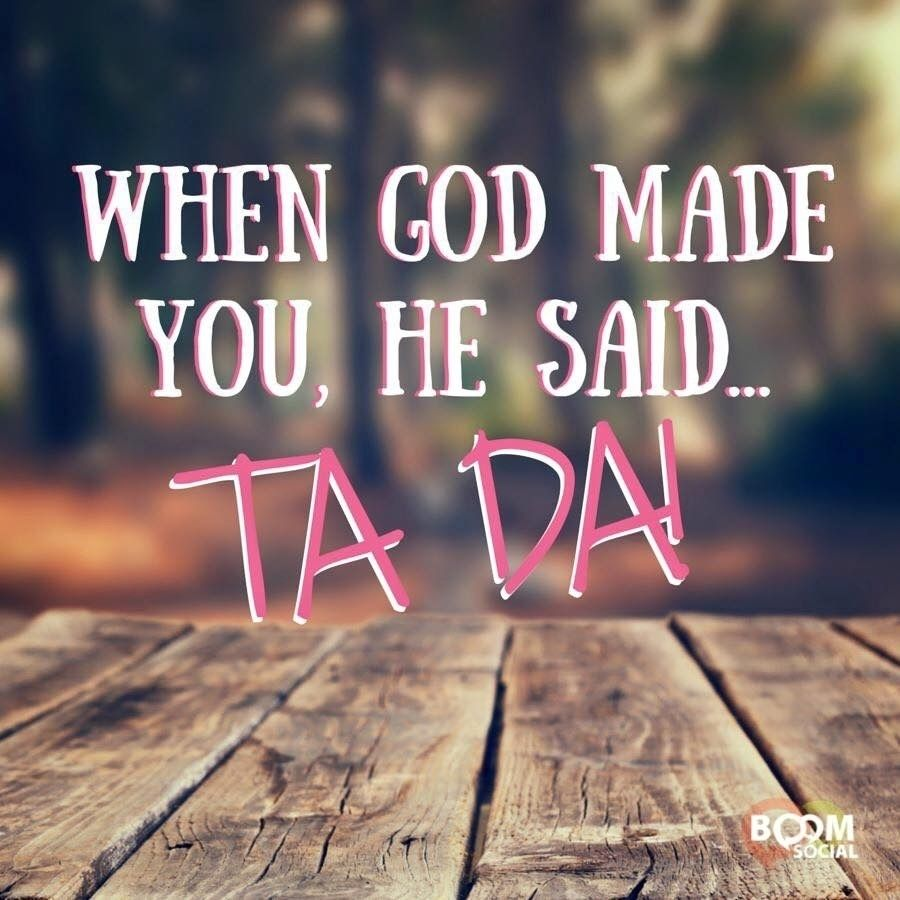 Calling God made something special in you....use it