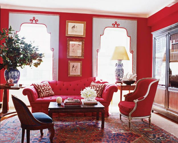 20 Ways To Pull Off A Red Wall Without Going Overboard Alluring Red Living Room Designs Design Decoration