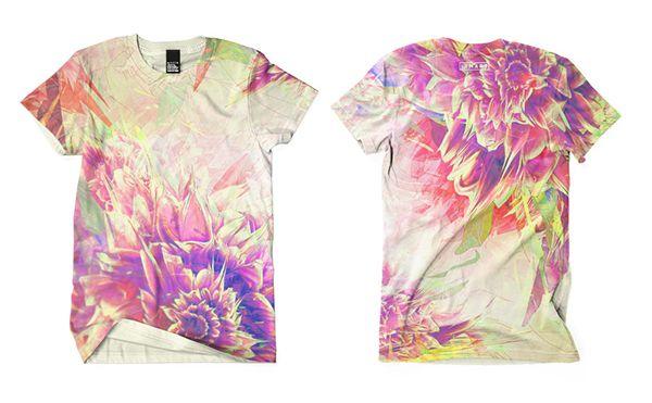 Floral t-shirt print by Mart Biemans