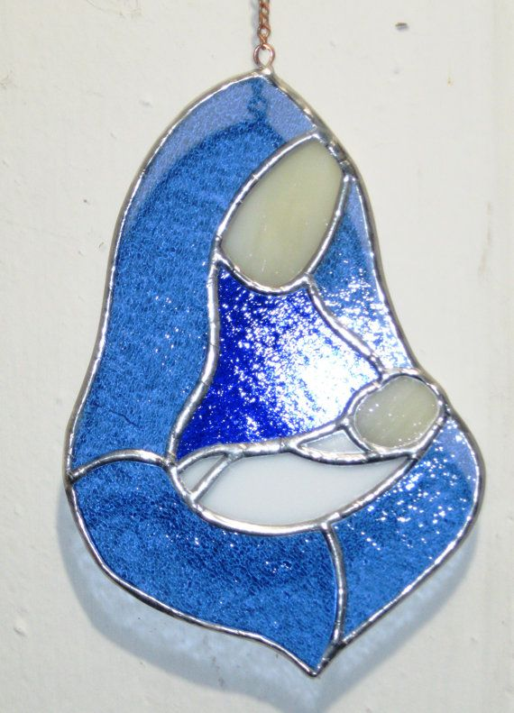 Mother and child in stained glass MADE TO by GlassKissinCreations, $32.00