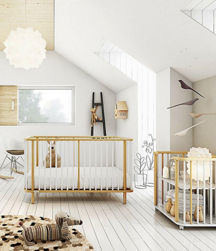 einrichtung kinderzimmer ideen dezent skandinavischer stil beige - kinder teppich beige gelb