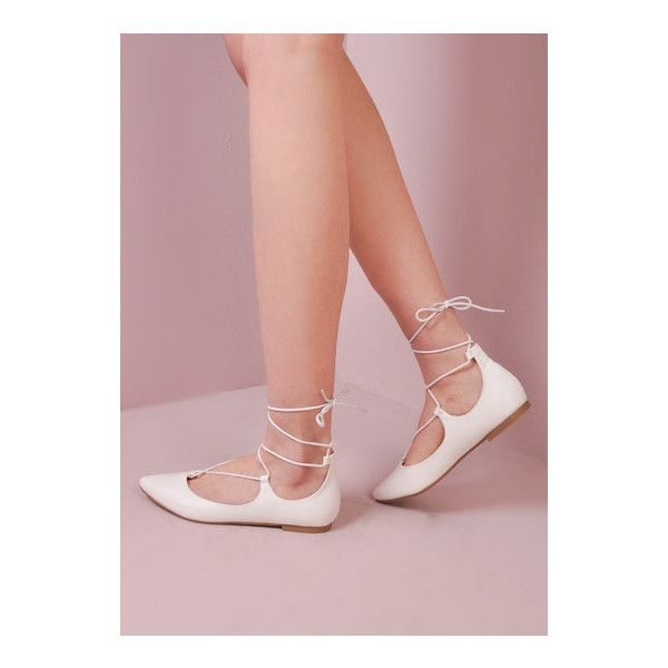 Pointed Ballet Closed Toe Flats White