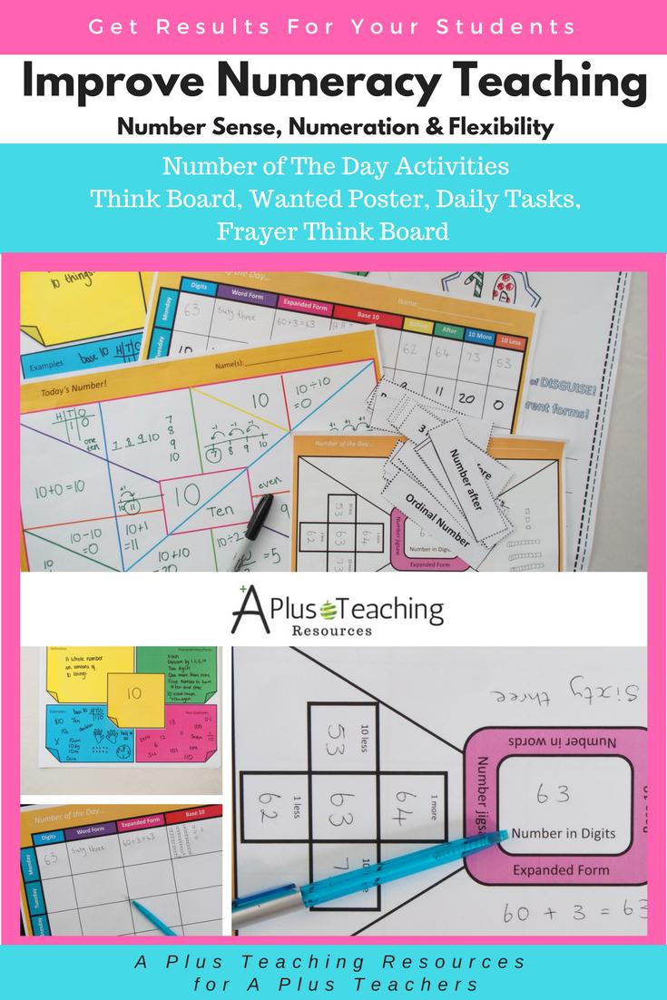 Teaching Number Sense using Think Board Templates   My Website - www ...