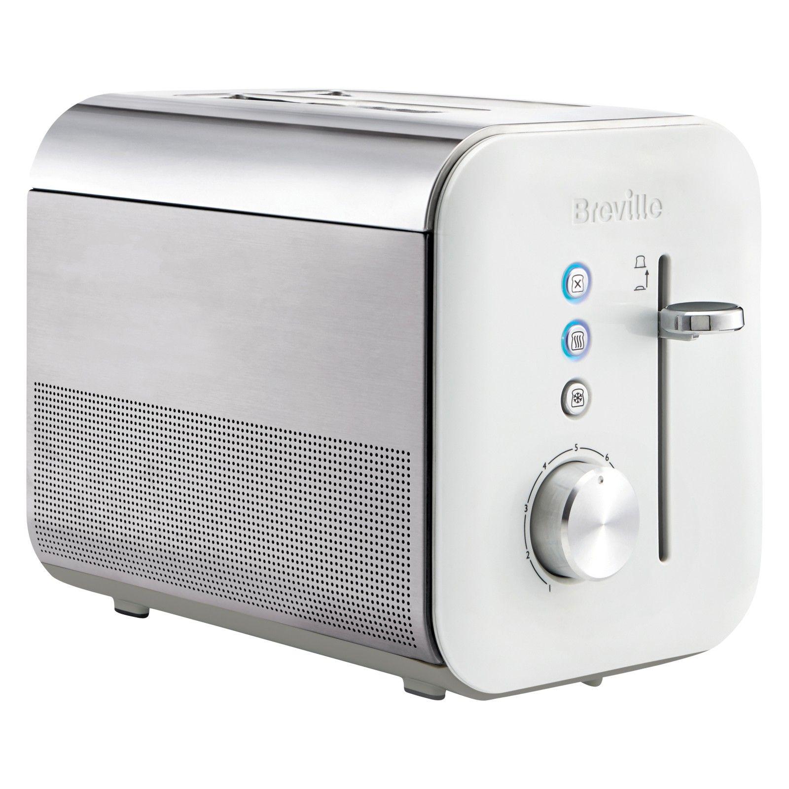 Breville VTT686 High Gloss 2-Slice Toaster, White   Toasters, High ...