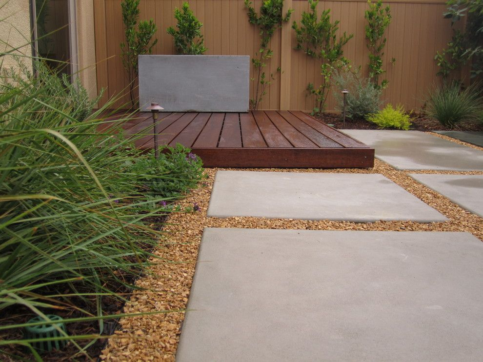 Ipe Wood Deck Sealed With Penafin Exotic Wood Treatment. Modular Concrete  Pads.