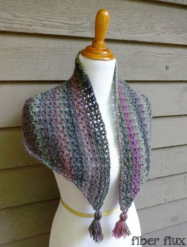#Crochet shawlette free pattern from @fiberflux