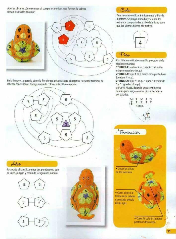 Pin de Pauline Lim en Amigurumi Hexagon crochet | Pinterest | Flores ...