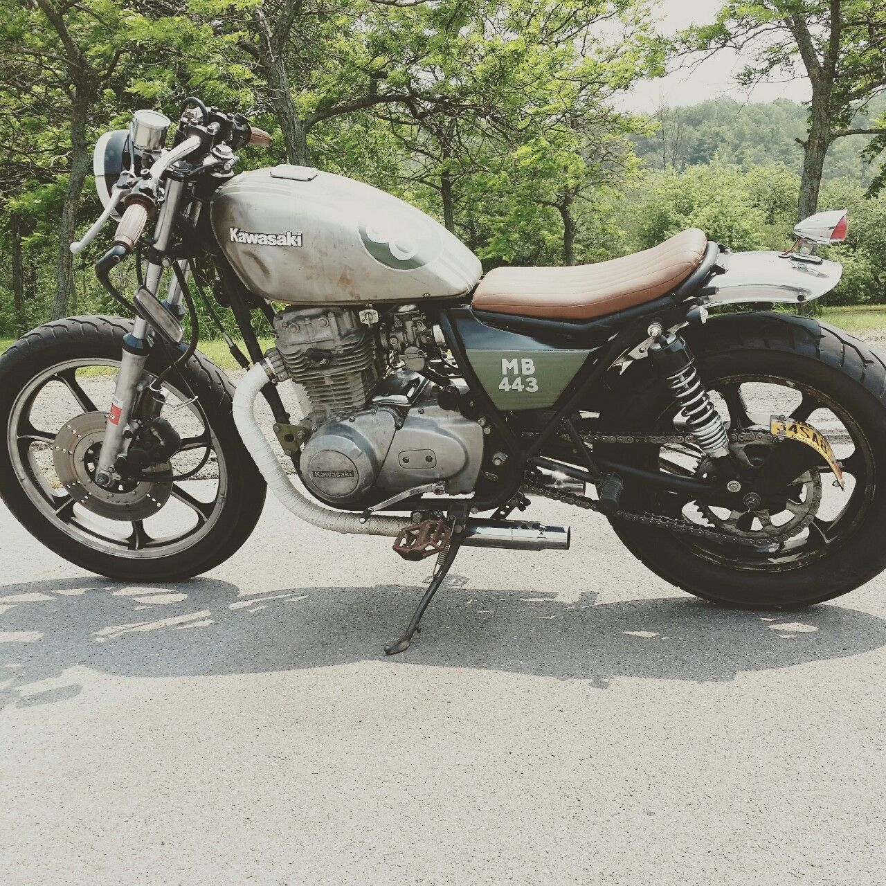 quigleyje submitted a pic of this Kawasaki KZ440 custom bike. Check ...