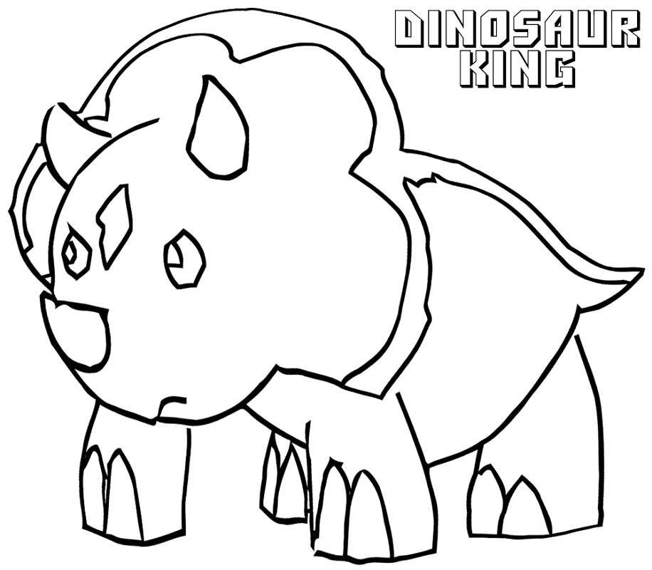 Dinosaur King Cards Coloring Pages You'll Love