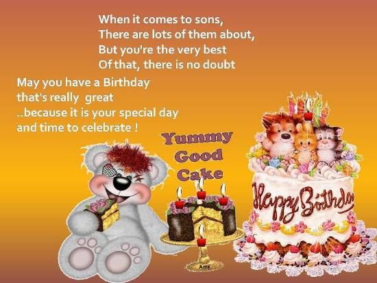 Warm Birthday Greetings For Your Son Birthday Wishes For Son Free Birthday Card Birthday Greetings
