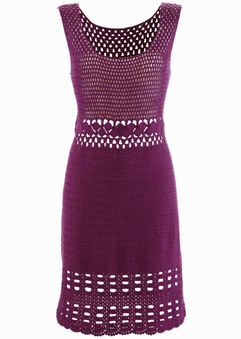 Crochetemoda: Vestidos | crochet dresses | Pinterest | Vestiditos ...