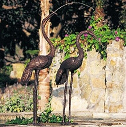 Crane Pair Statue. This Is Not Your Grandmau0027s Flamingo Yard Art. These  Cranes Double