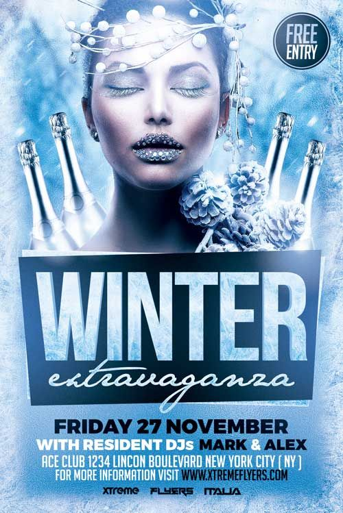 Winter Party Flyer Template  HttpXtremeflyersComWinterParty