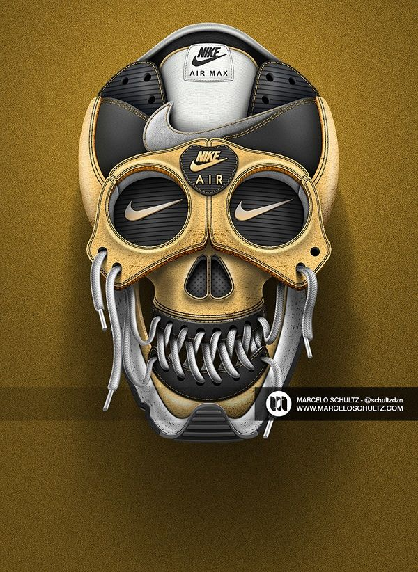 Iconic Nike Shoes Transformed Into Visually Arresting Digital Sneaker Skulls