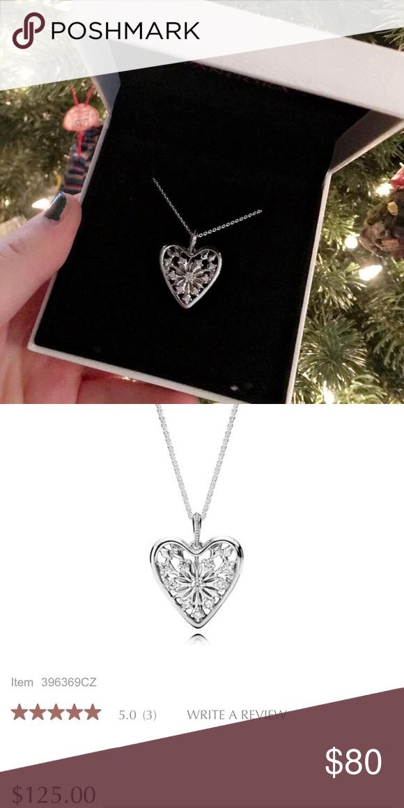 """98e11b16f746c Pandora """"Heart of Winter"""" necklace Sterling silver 20"""" chain Comes w ..."""